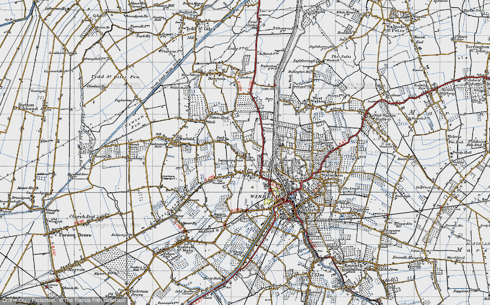 Old Map of Leverington, 1946 in 1946