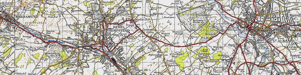 Old map of Leverstock Green in 1946