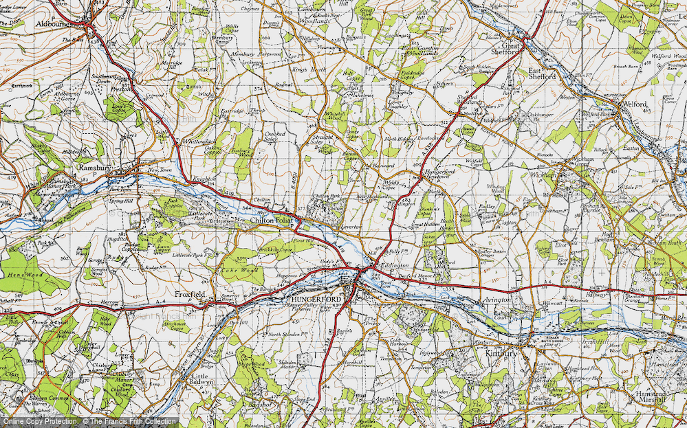 Old Map of Leverton, 1945 in 1945