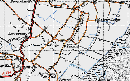 Old map of Leverton Lucasgate in 1946