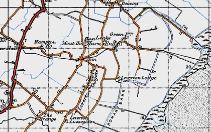 Old map of Leverton Outgate in 1946