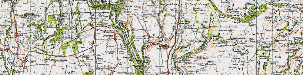 Old map of Levisham Beck in 1947