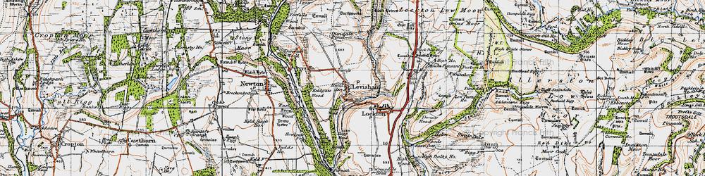 Old map of Levisham in 1947