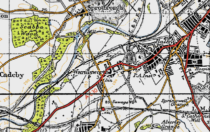 Old map of Levitt Hagg in 1947