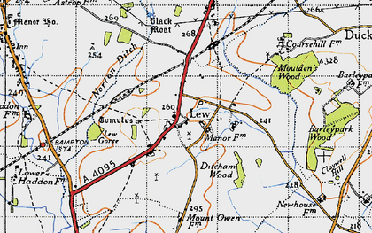 Old map of Lew in 1946