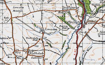 Old map of Leweston in 1946