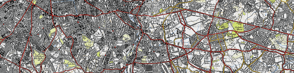 Old map of Lewisham in 1946