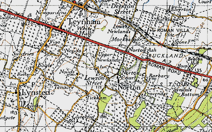 Old map of Lewson Street in 1946