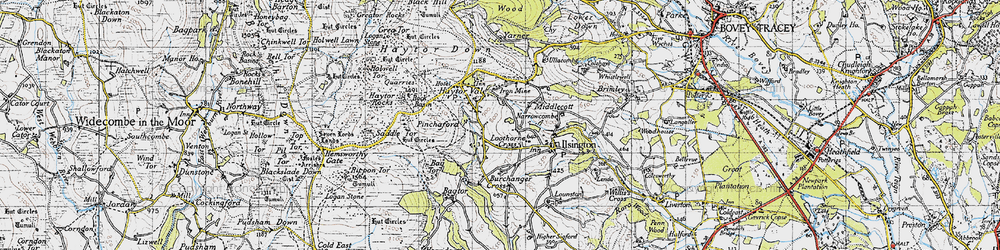 Old map of Lewthorn Cross in 1946