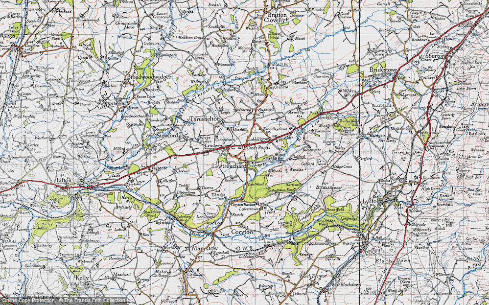 Old Map of Lewtrenchard, 1946 in 1946