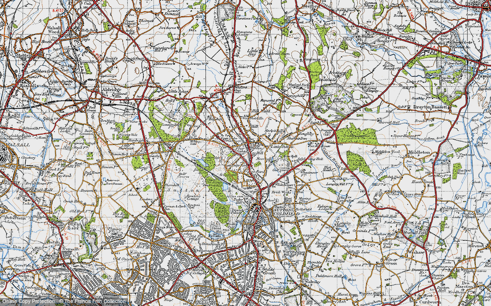 Old Map of Ley Hill, 1946 in 1946