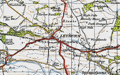 Old map of Leyburn in 1947
