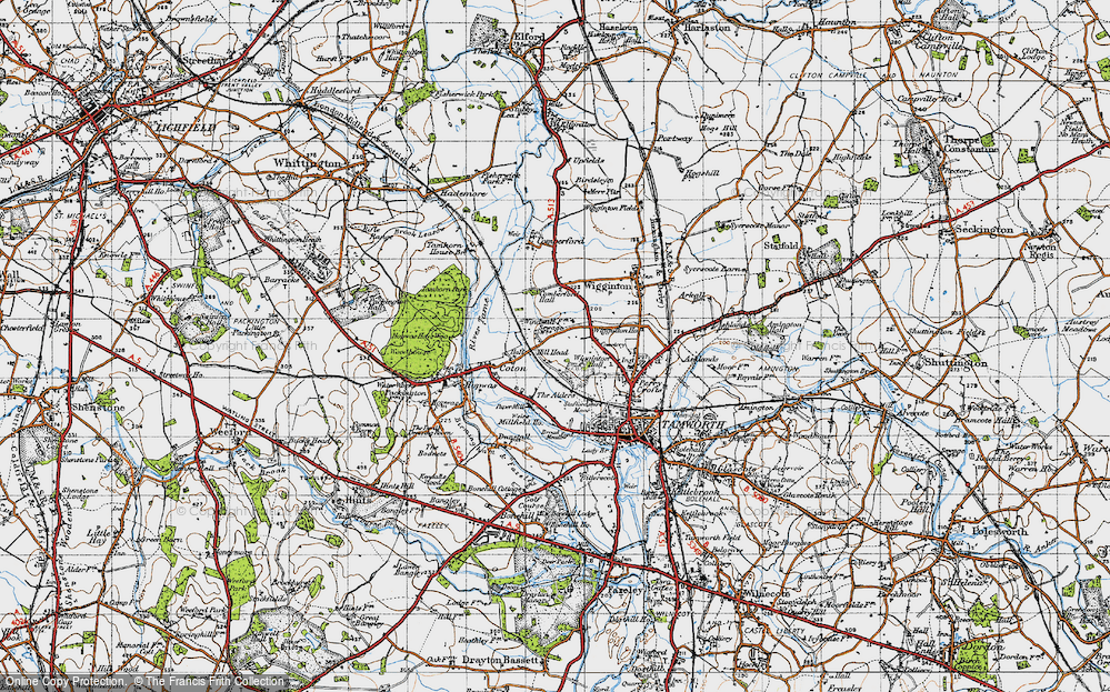 Old Map of Leyfields, 1946 in 1946