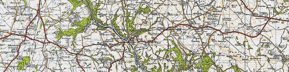 Old map of Leys in 1946