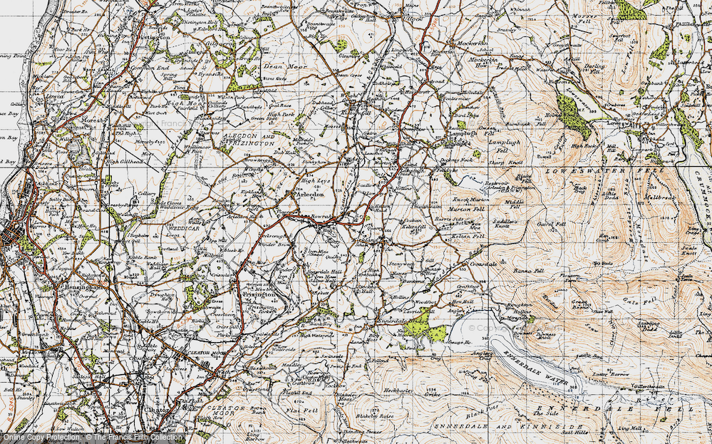 Old Map of Leys, 1947 in 1947