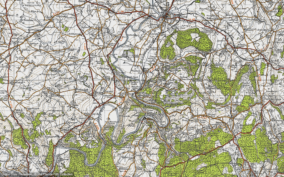 Old Map of Leys Hill, 1947 in 1947