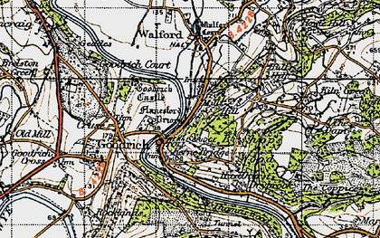 Old map of Leys Hill in 1947