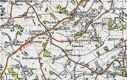 Old map of Weston Fm in 1947
