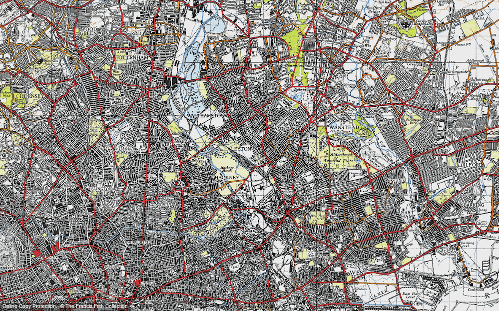 Old Map of Leyton, 1946 in 1946