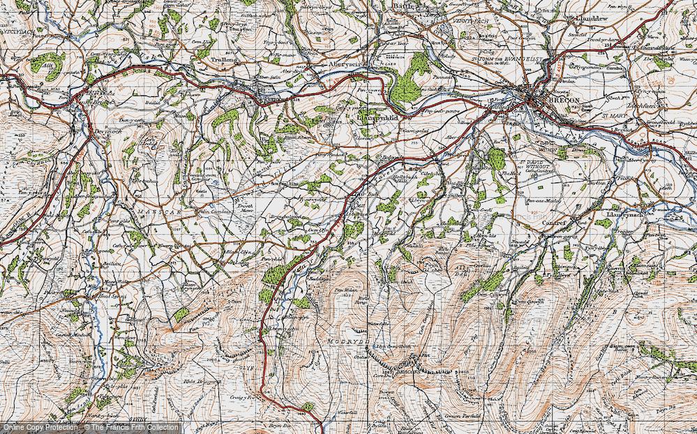 Old Map of Libanus, 1947 in 1947