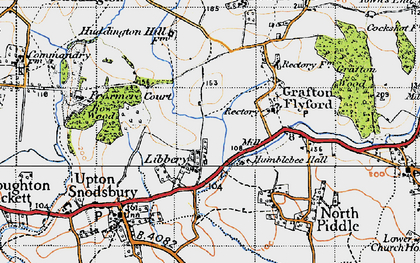 Old map of Libbery in 1947