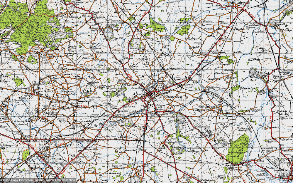 Old Map of Lichfield, 1946 in 1946