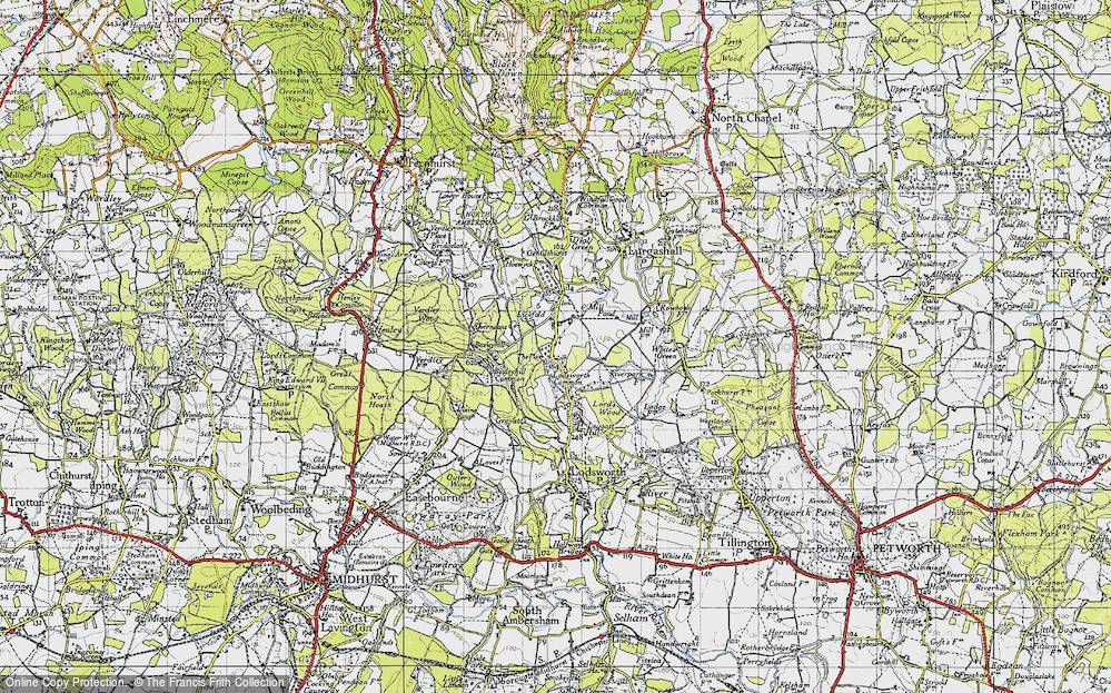 Old Map of Lickfold, 1940 in 1940