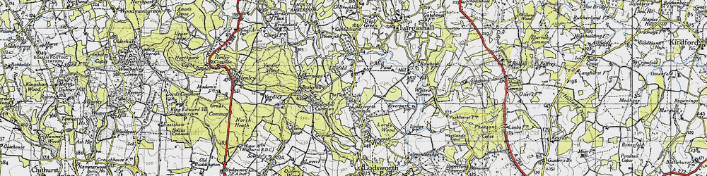 Old map of Lickfold in 1940