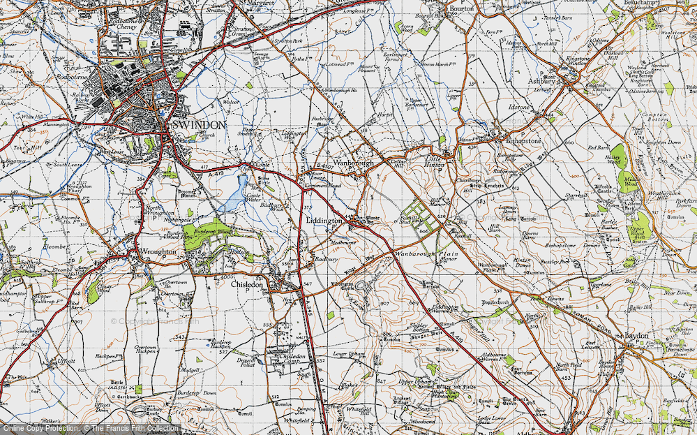 Old Map of Liddington, 1947 in 1947