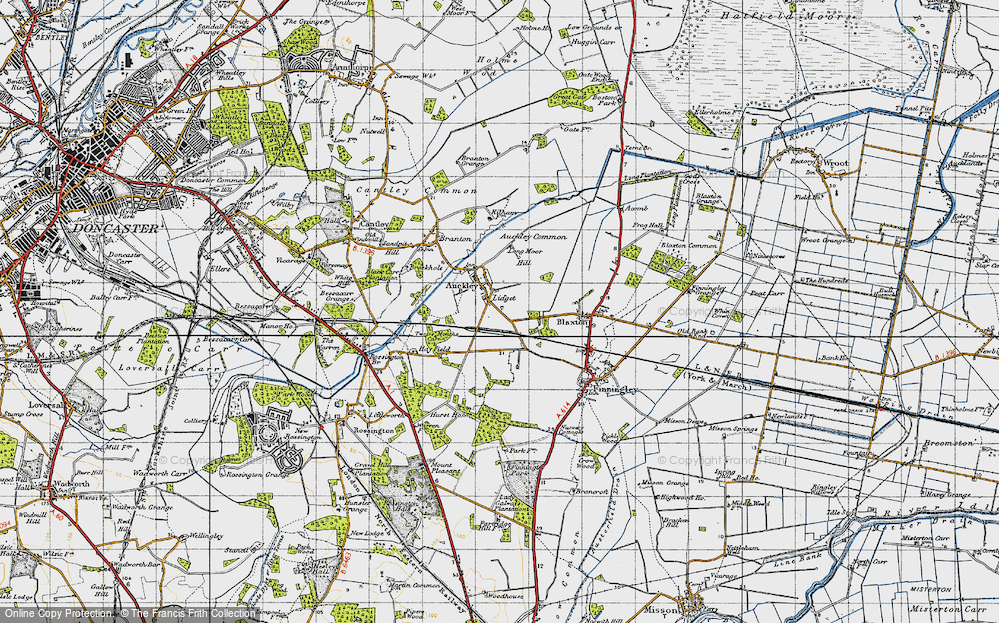 Old Map of Lidget, 1947 in 1947