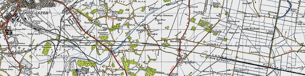 Old map of Lidget in 1947