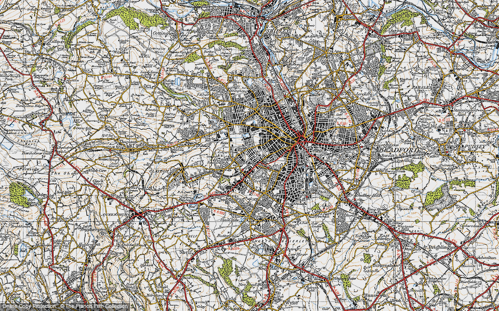 Old Map of Lidget Green, 1947 in 1947