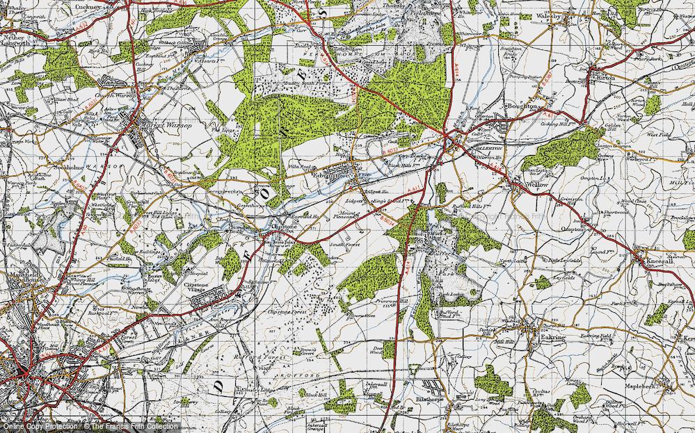Old Map of Lidgett, 1947 in 1947