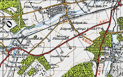 Old map of Amen Corner in 1947
