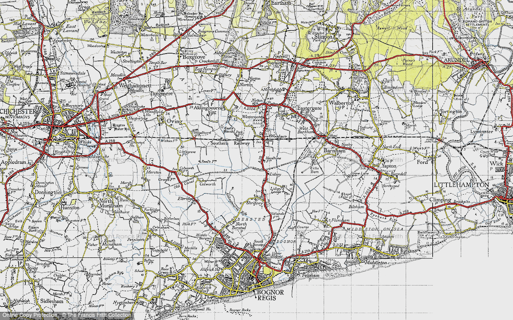 Old Map of Lidsey, 1945 in 1945