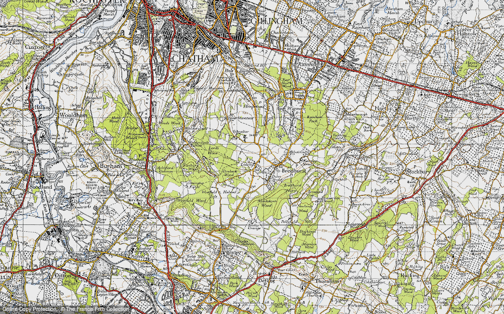 Old Map of Lidsing, 1946 in 1946