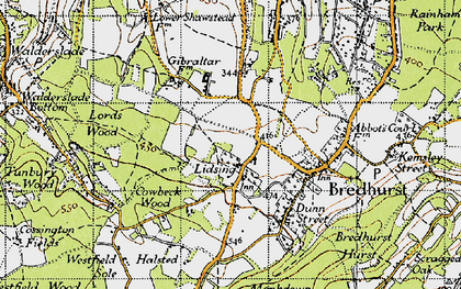 Old map of Lidsing in 1946
