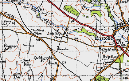 Old map of Lidstone in 1946