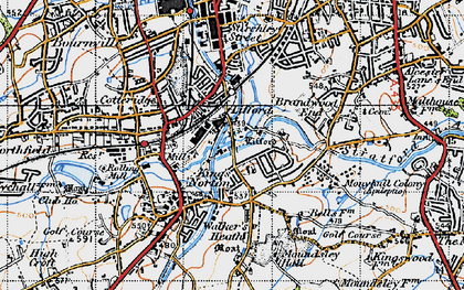 Old map of Lifford in 1947