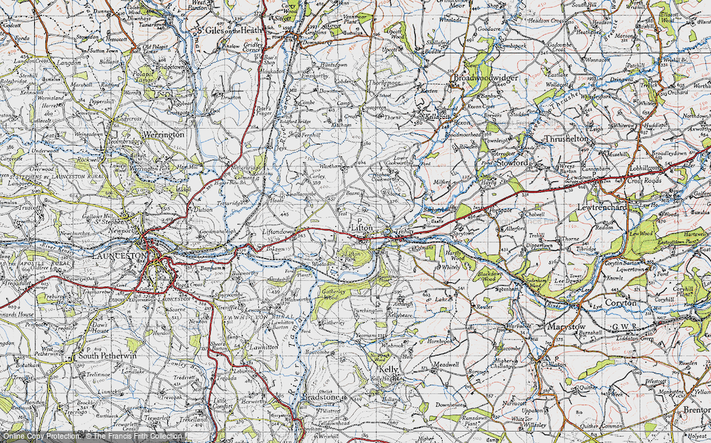 Old Map of Lifton, 1946 in 1946
