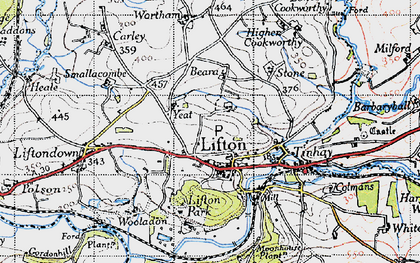Old map of Lifton Park in 1946