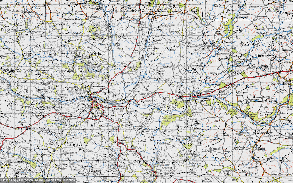 Old Map of Liftondown, 1946 in 1946