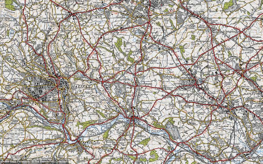 Old Map of Lightcliffe, 1947 in 1947