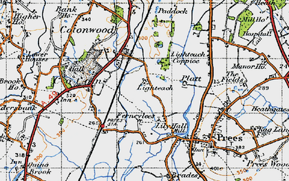 Old map of Lily Hall in 1947