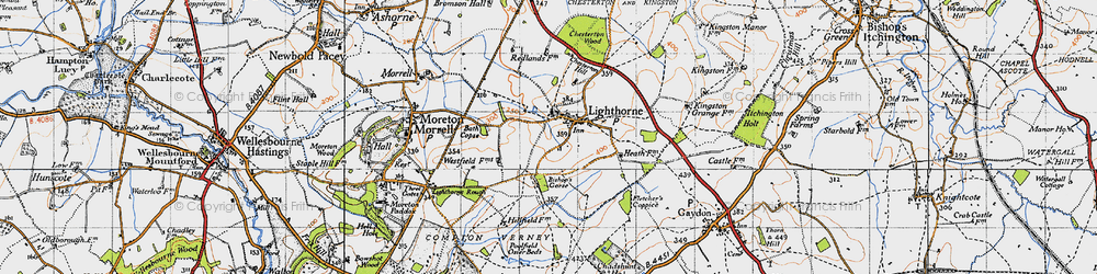 Old map of Lighthorne in 1946