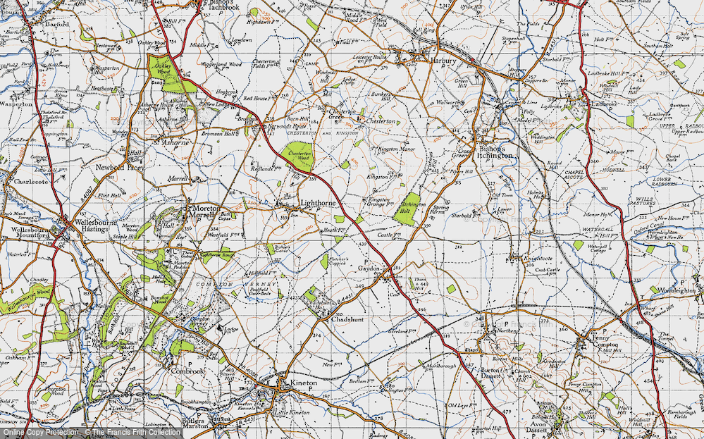 Old Map of Lighthorne Heath, 1946 in 1946