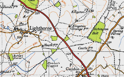 Old map of Lighthorne Heath in 1946