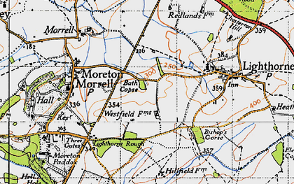 Old map of Lighthorne Rough in 1946