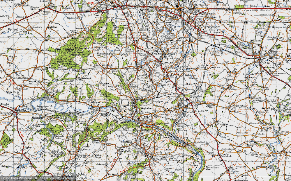 Old Map of Lightmoor, 1947 in 1947