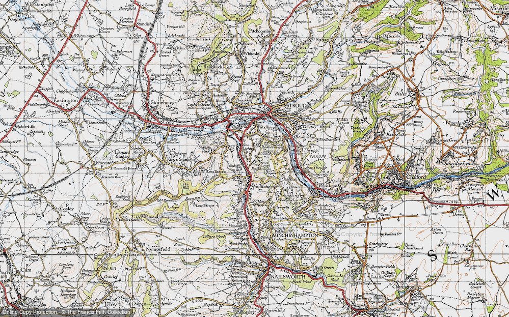Old Map of Lightpill, 1946 in 1946